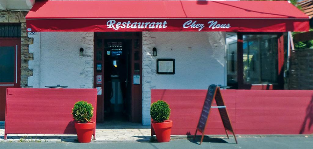 Restaurant Chez Nous Anglet Carte