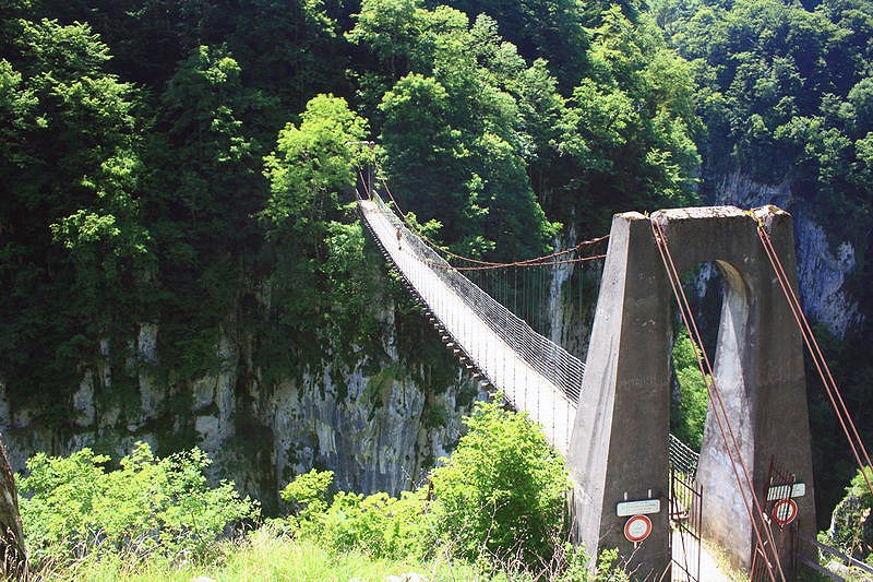 Le Pont Suspendu D Holzarte Sites Naturels 224 Larrau