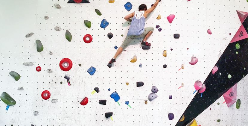 Go out of your comfort zone and try indoor climbing!