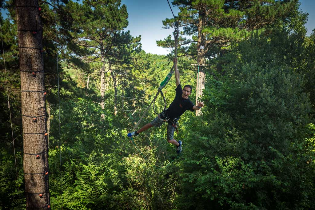 Zipline at Oihana Adventure Park