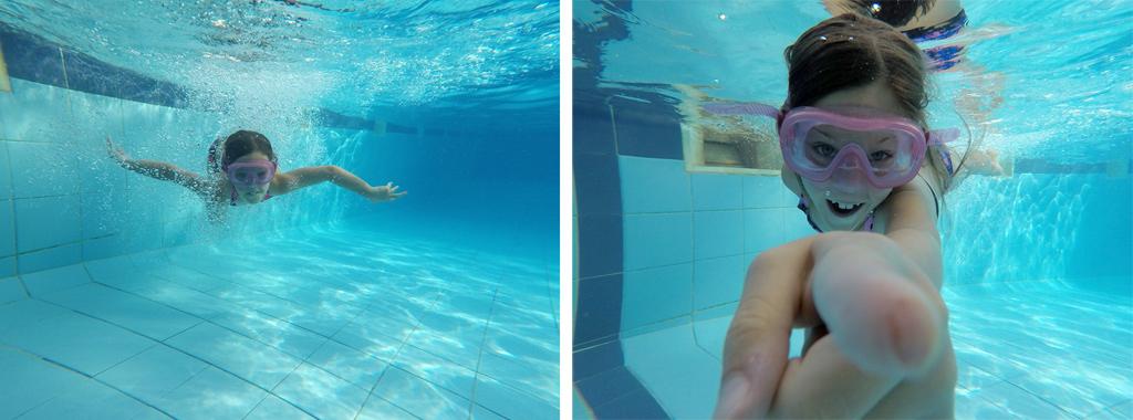 Le fond de la piscine