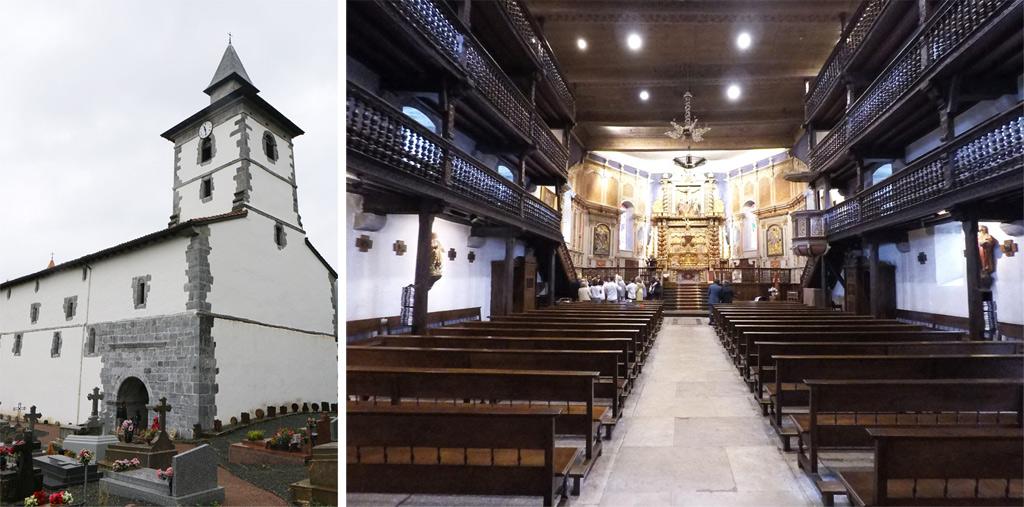 L'église Saint-Fructueux à Itxassou