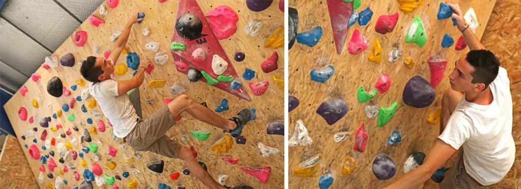 Ici, c'est un grimpeur expérimenté. Beauté du geste et audace des mouvements !