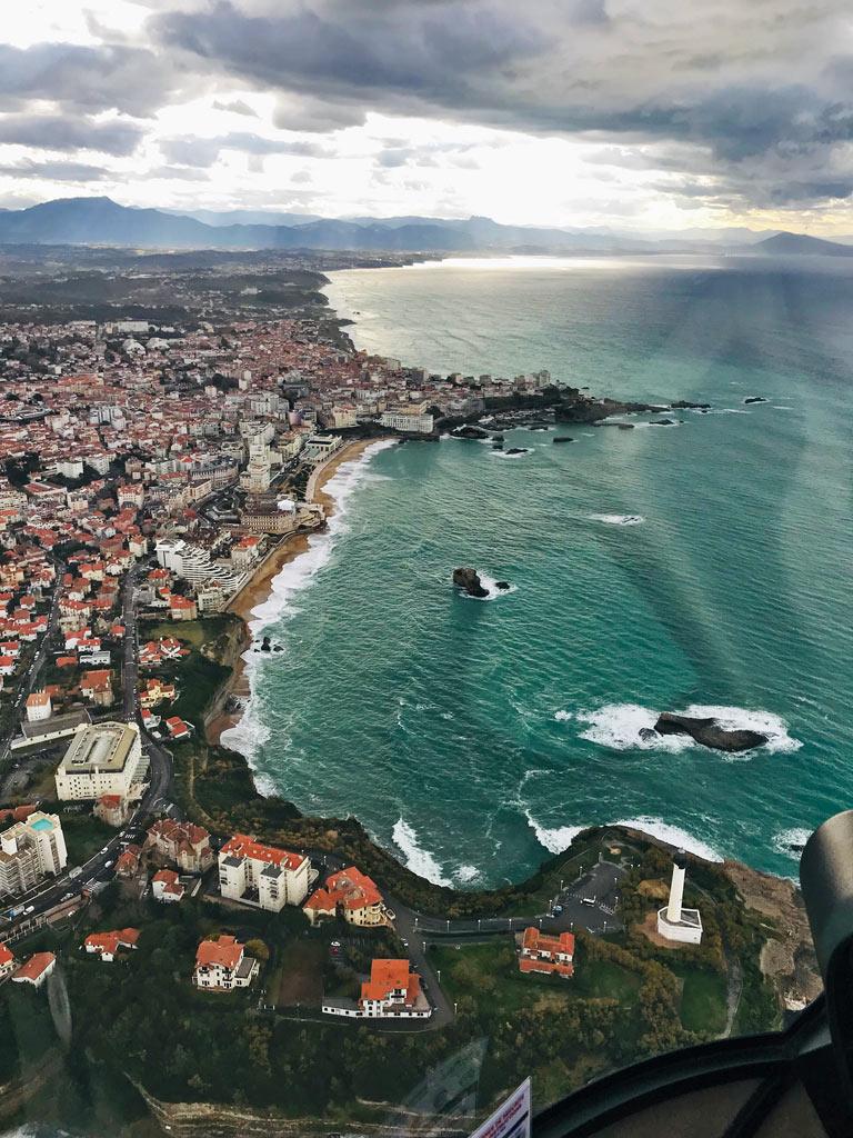 Biarritz vu du ciel