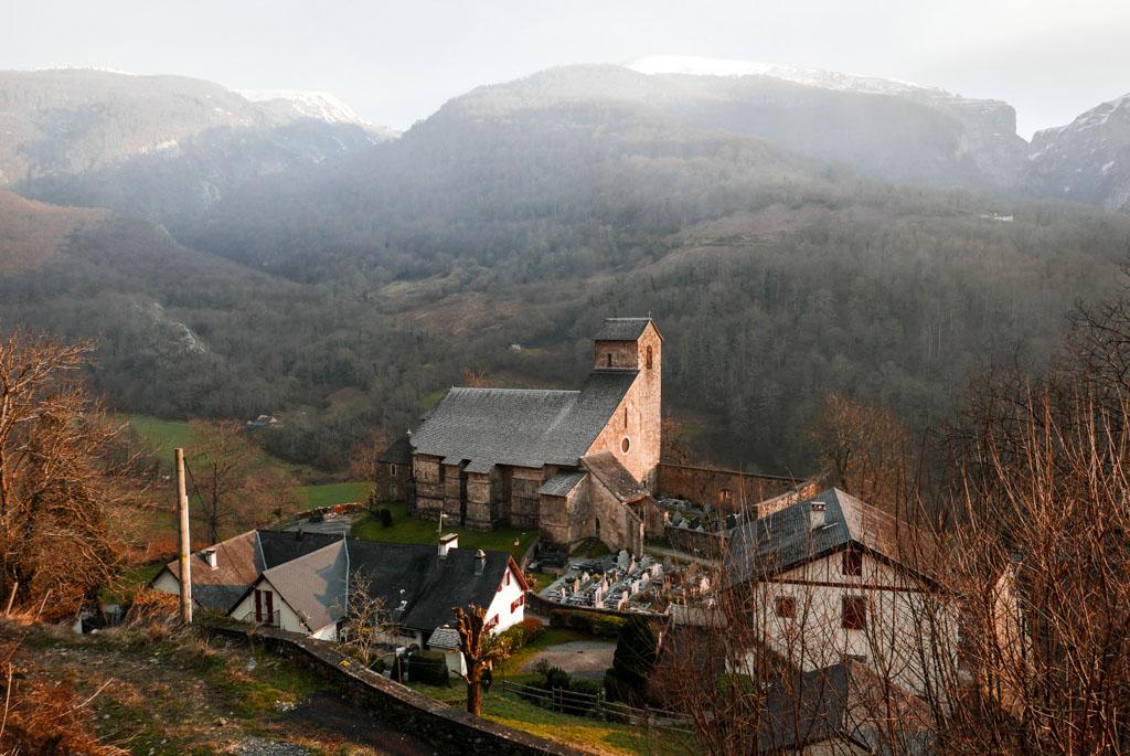 L'église romane du Xième siècle de Sainte-Engrâce