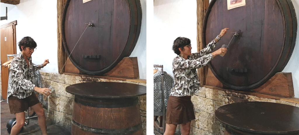 serve Basque cider