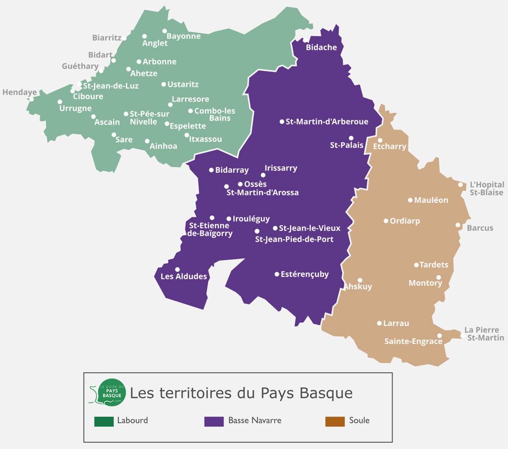 Carte de La Basse Navarre, au Pays Basque